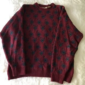 Vintage Maroon Sweater (Price Negotiable)
